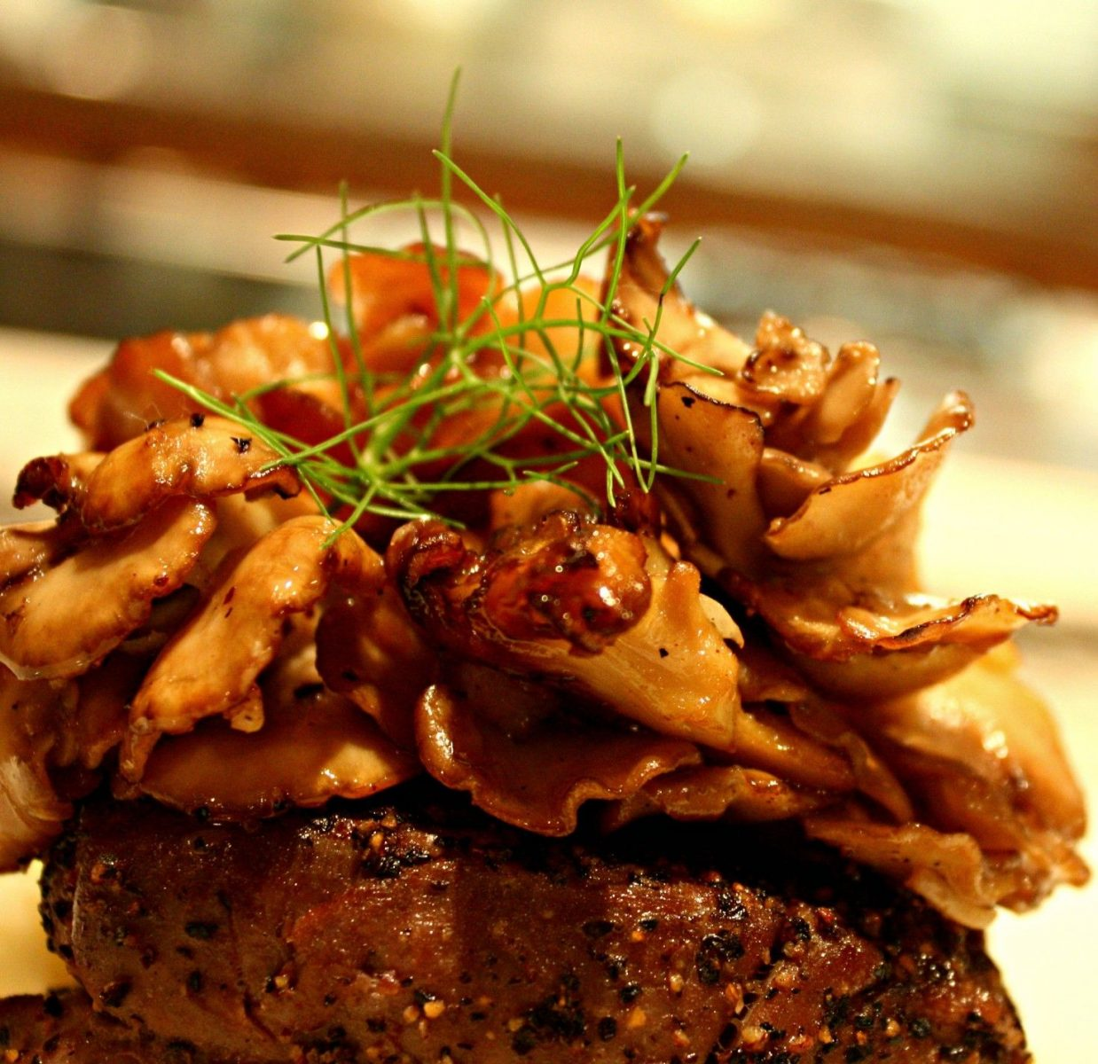 Filet-of-Beef-Tenderloin-served-with-a-giant-Hen-of-the-woods-mushroom-basted-in-butter_
